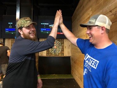 axe throwing bachelor parties