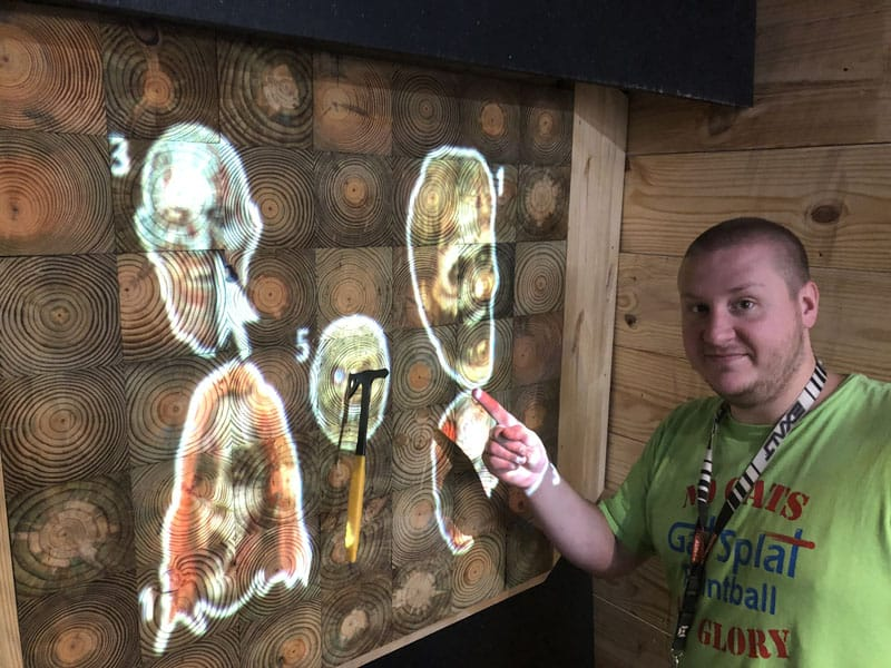 Axe Throwing at Zombies